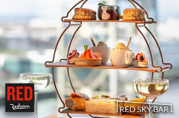 Radisson RED afternoon tea and cocktail