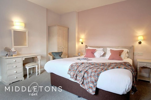 Middletons Hotel stay, York