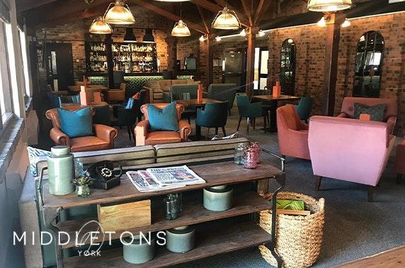 Middletons Hotel stay, York