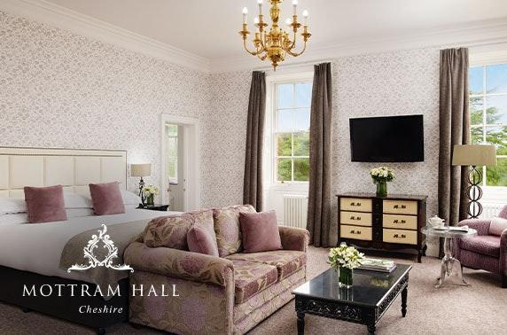 Luxury Mottram Hall suite stay, Cheshire