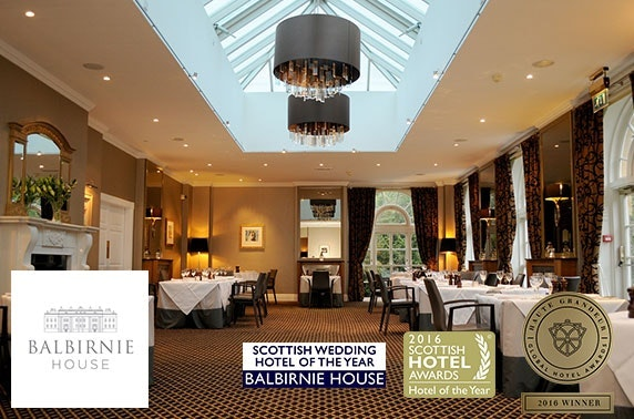 Award-winning Balbirnie House Hotel stay