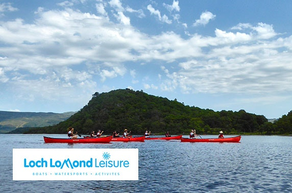 Guided canoe trip at Loch Lomond Leisure