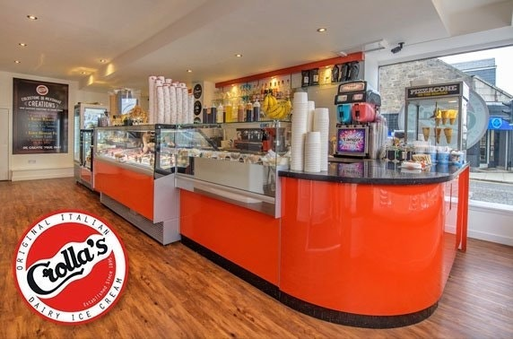 Crolla's ice cream, Aberdeen - from £3pp