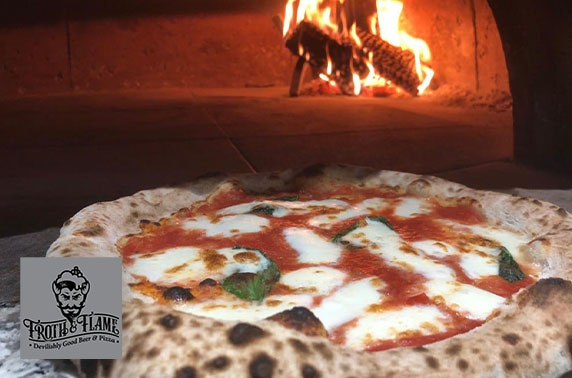 Froth & Flame pizzas and drinks
