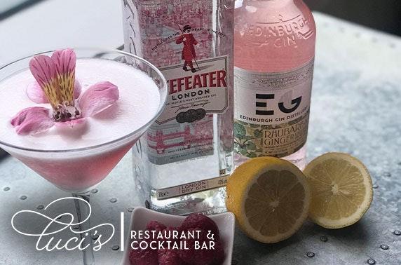 Cocktail masterclass at Luci's Restaurant & Cocktail Bar, Midlothian
