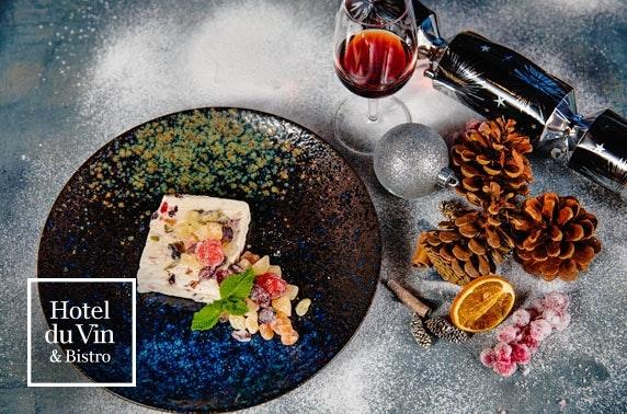 AA-Rosette festive Champagne dining, 4* Hotel du Vin Edinburgh