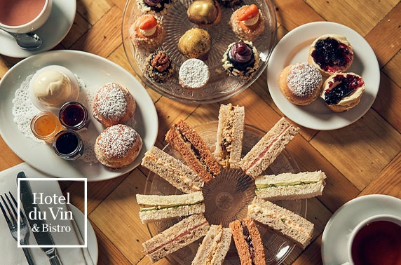 Gin afternoon tea, 4* Hotel du Vin Edinburgh