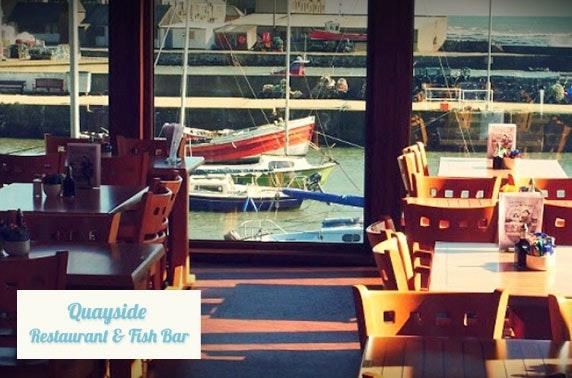 Award-winning Quayside Restaurant & Fish Bar dining
