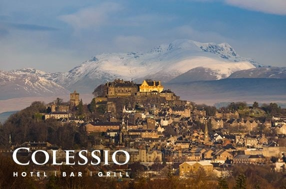 Hotel Colessio stay, Stirling - valid 7 days!