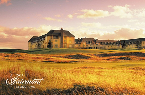 5* Fairmont St Andrews afternoon tea & leisure access