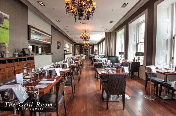 Steaks and wine, The Grill Room at the Square