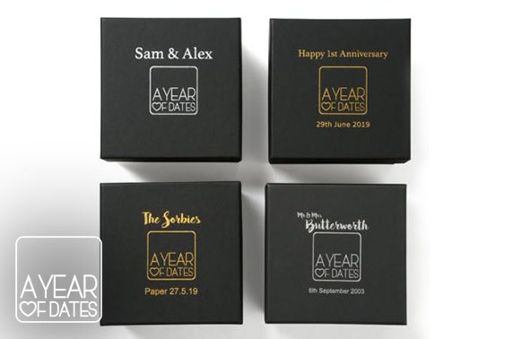 A Year Of Dates box