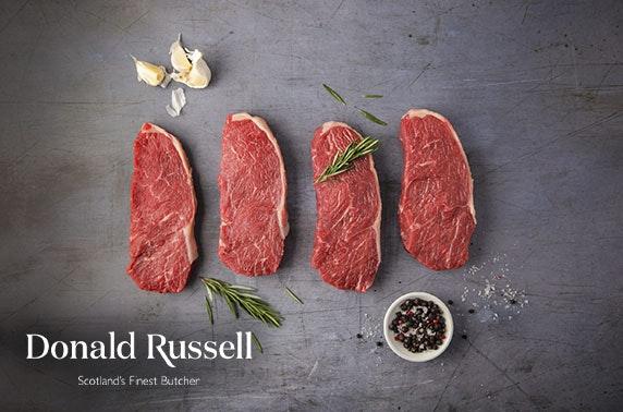 Award-winning butcher Donald Russell burgers & steaks