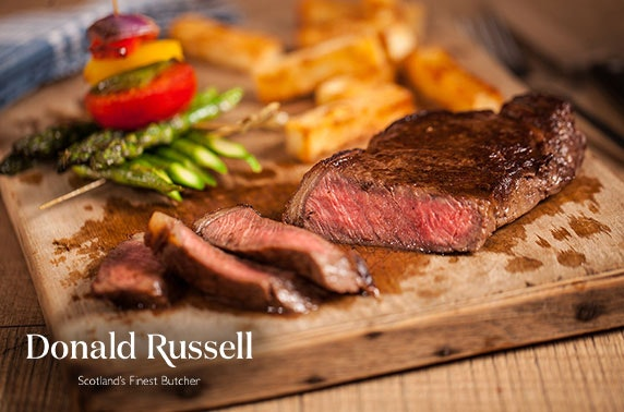 Award-winning butcher Donald Russell burgers & steaks