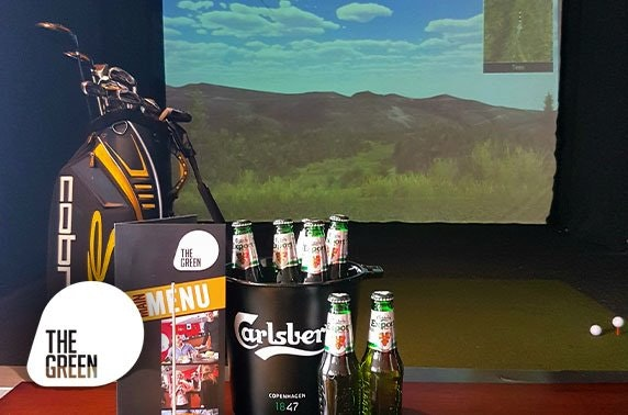 Golf simulator and beers, The Green - valid 7 days