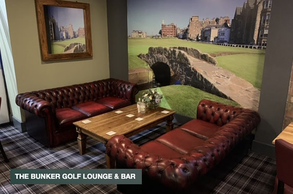 Golf simulator, The Bunker Golf Lounge and Bar