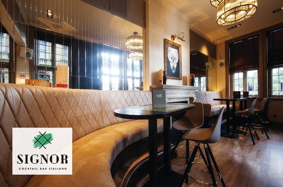 Signor Cocktail Bar voucher spend, Quayside