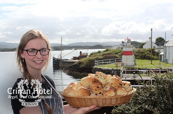 Award-winning Crinan Hotel coastal stay