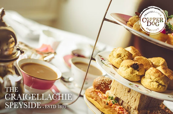 The Craigellachie Hotel afternoon tea, Speyside