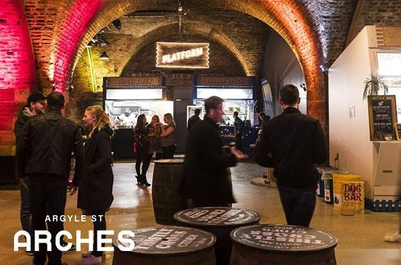 Platform voucher spend, Argyle Street Arches