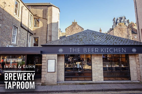 Innis & Gunn Brewery Taproom, Dundee burgers and drinks