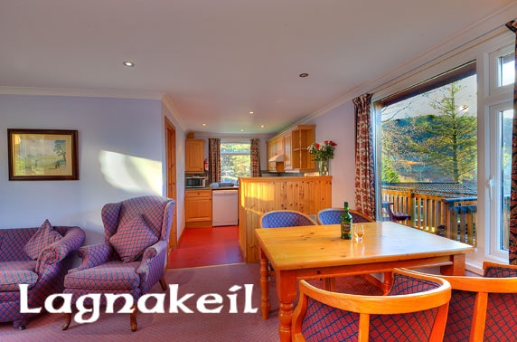 Group lodge stay nr Oban – less than £13pppn